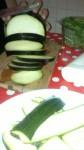 zucchine, melanzane, tagliare