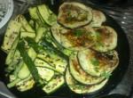 prezzemolo, olio, melanzane, griglia, zucchine